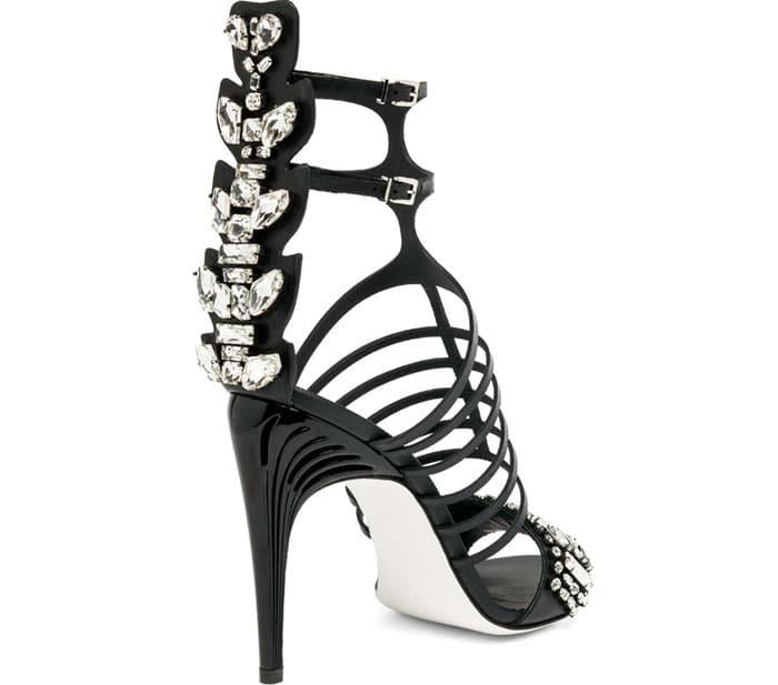 Fendi-Crystal-Crocodile-&-Leather-Cage-Sandals-1