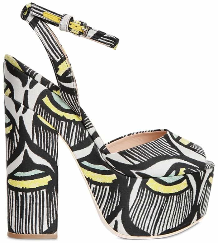 Giamba Multicolor 160Mm Cotton Jacquard Sandals