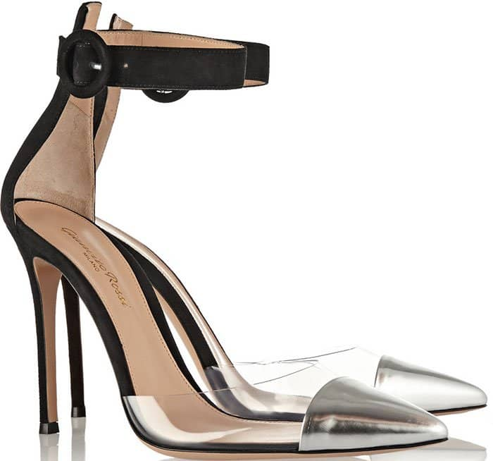 Gianvito Rossi Leather-PVC-Suede Pumps