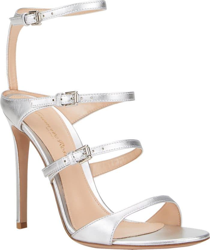 """Gianvito Rossi """"Carey"""" Sandals in Silver"""