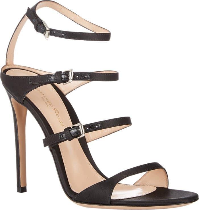 "Gianvito Rossi ""Carey"" Sandals in Black"