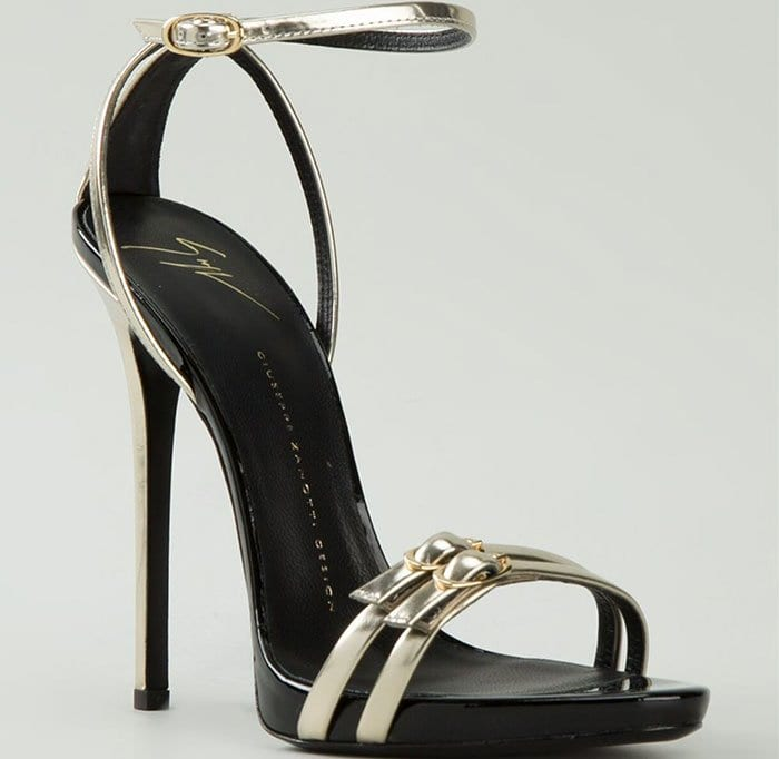 Giuseppe Zanotti Strappy Sandals in Metallic Gold