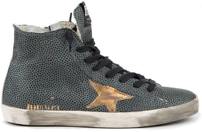 Golden Goose S7 Francy Leopard Hi Top Sneakers