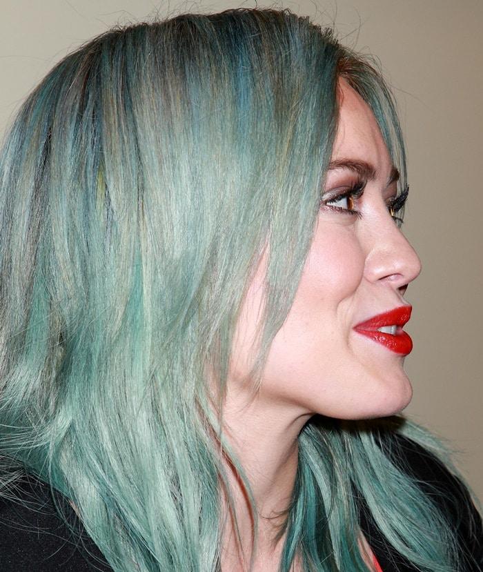 Hilary Duff's aqua-blue mermaid hair