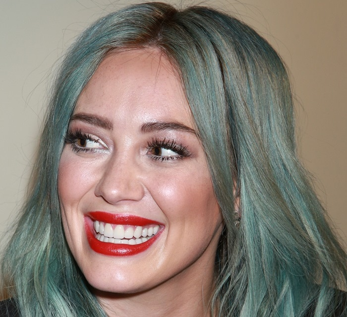 Hilary Duff's freshly colored strands