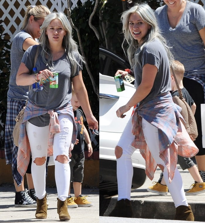 Hilary Duff takes her son Luca to The Co-op in Studio City