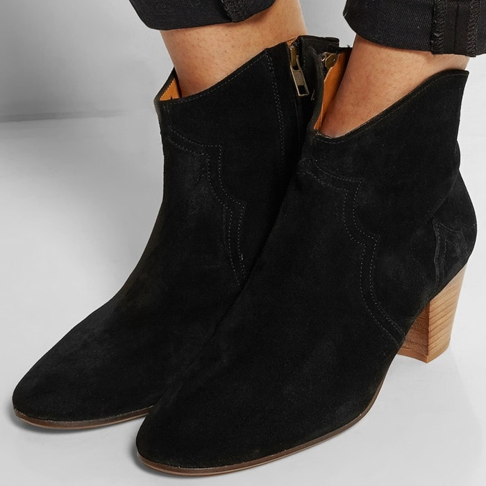 Isabel Marant The Dicker black suede ankle boots
