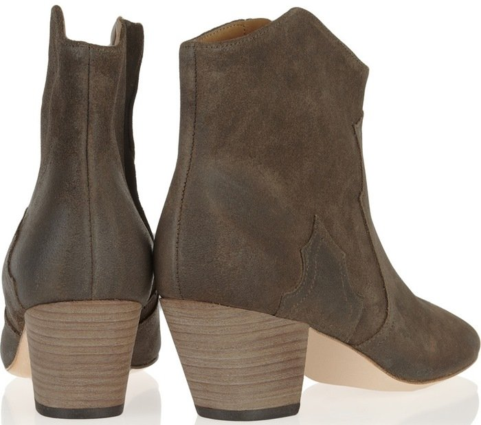 Isabel Marant The Dicker suede ankle boots back
