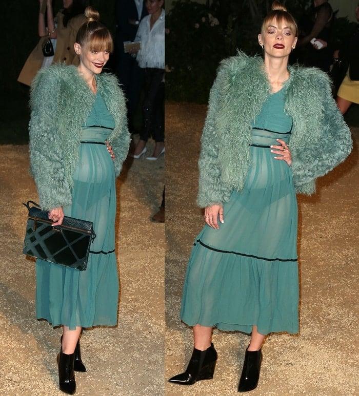 Jaime King's sheer Burberry dress exposed her underwear