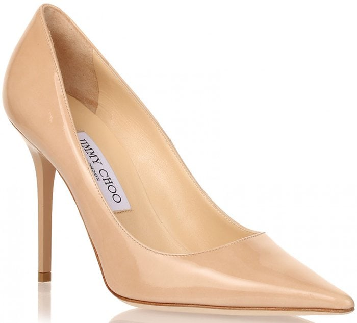 Jimmy Choo Abel Patent Nude Pumps