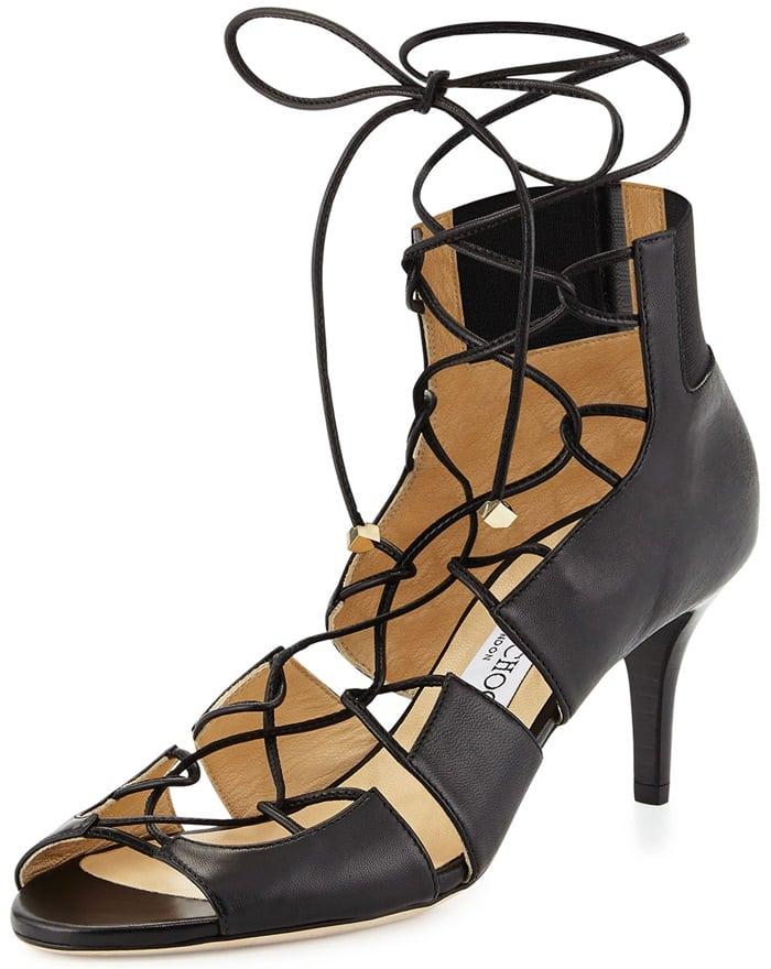 Jimmy Choo Myrtle Napa Lace-Up Sandal