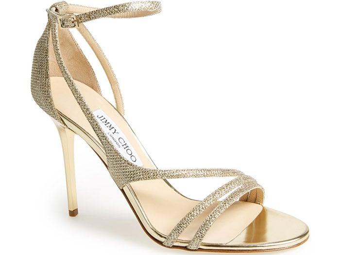 Jimmy Choo Valdez Sandals in Gold