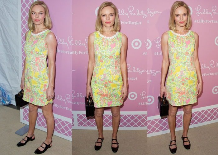 Kate Bosworth in a dress from the Lilly Pulitzer for Target collection with florals in candy colors