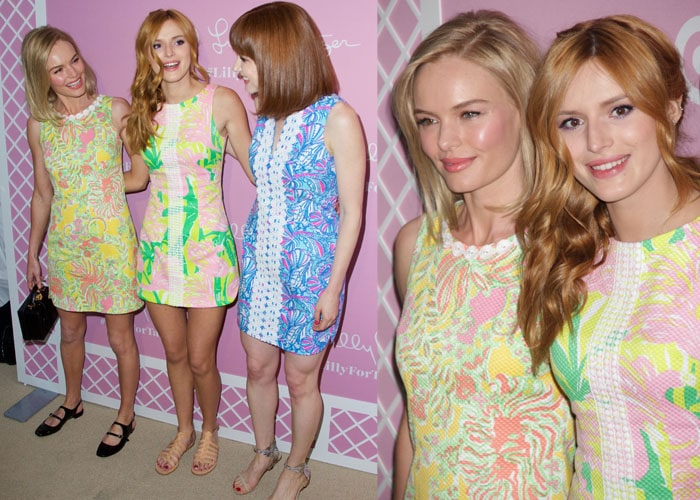 Actresses Kate Bosworth, Bella Thorne, and Ellie Kemper attend the Lilly Pulitzer for Target Launch