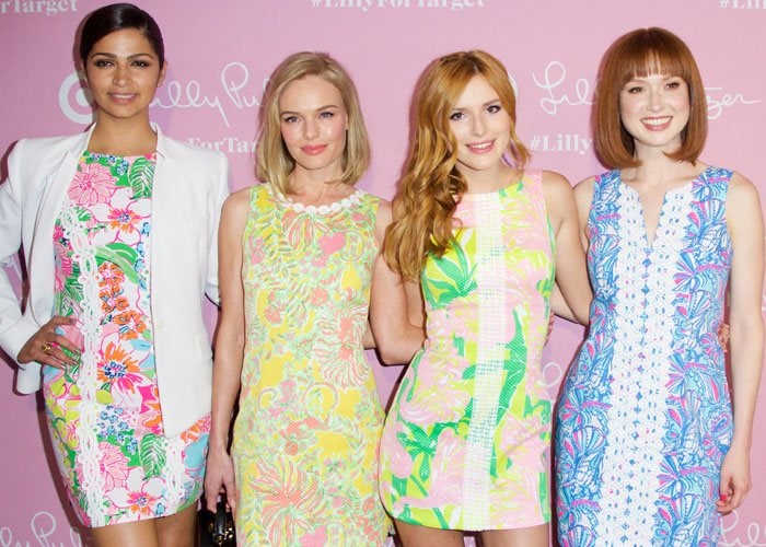 Actresses Kate Bosworth, Camila Alves, Bella Thorne, and Ellie Kemper attend the Lilly Pulitzer for Target Launch