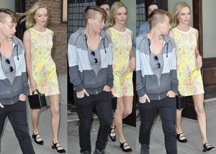 Kate Bosworth finished off her outfit withCarven Mary Jane shoes