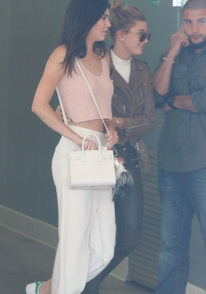 """Kendall Jenner in funky adidas x Raf Simons """"Stan Smith"""" sneakers"""