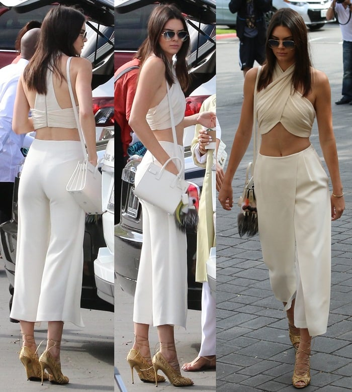 The extended Kardashian-Jenner family attend church in Woodland Hills on Easter Sunday
