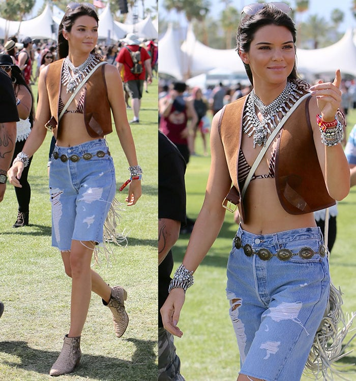 Kendall Jenner toted a bohemian fringe bag