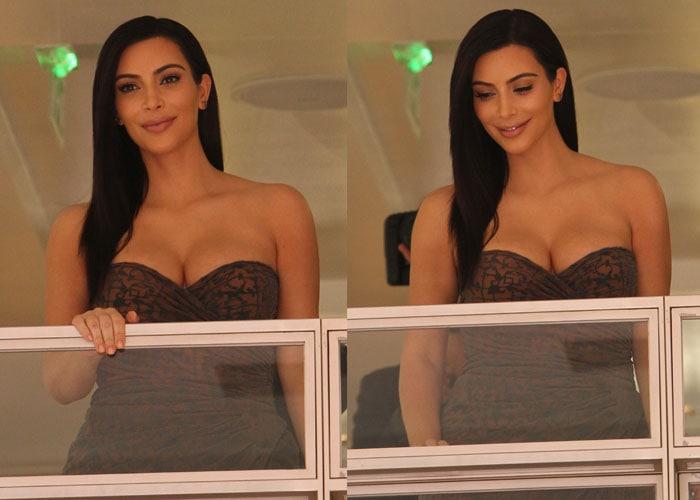 Kim Kardashian Alexander Wang Hair Launch 3
