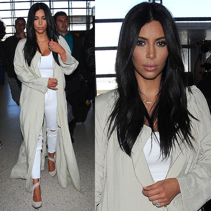 Kim Kardashian remaining expressionless