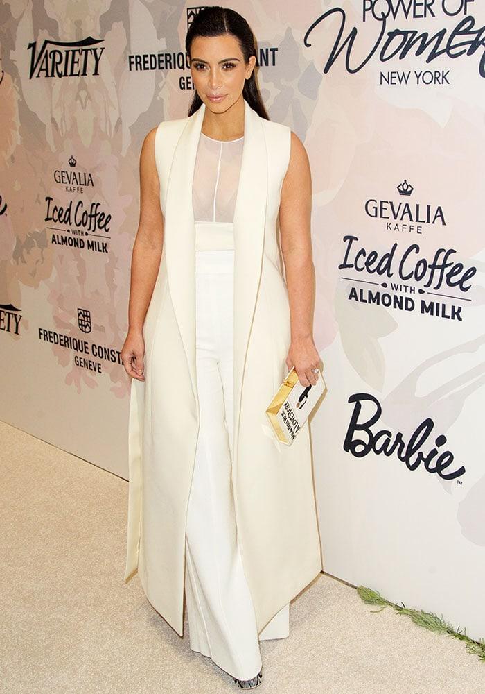 Kim-Kardashian-see-through-top-and-cream-high-waist-pants