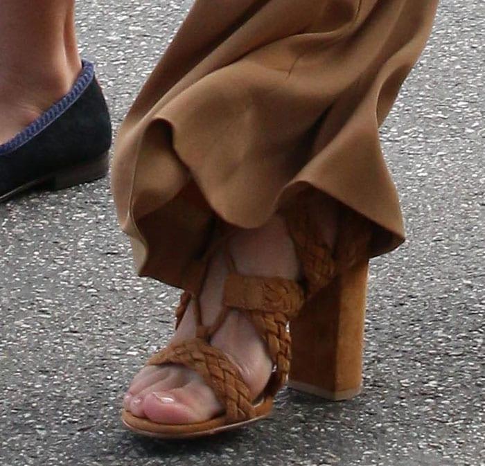 Kourtney Kardashian wearing Gianvito Rossi sandals