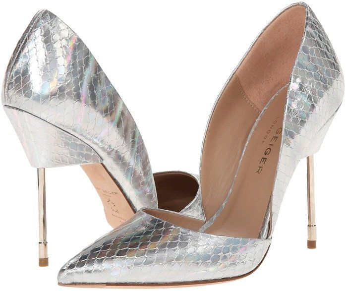 Metallic Kurt Geiger Bond Pumps