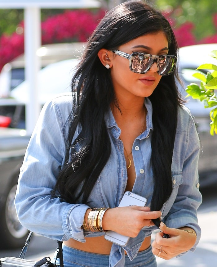 Kylie Jenner has lunch at Fred Segal