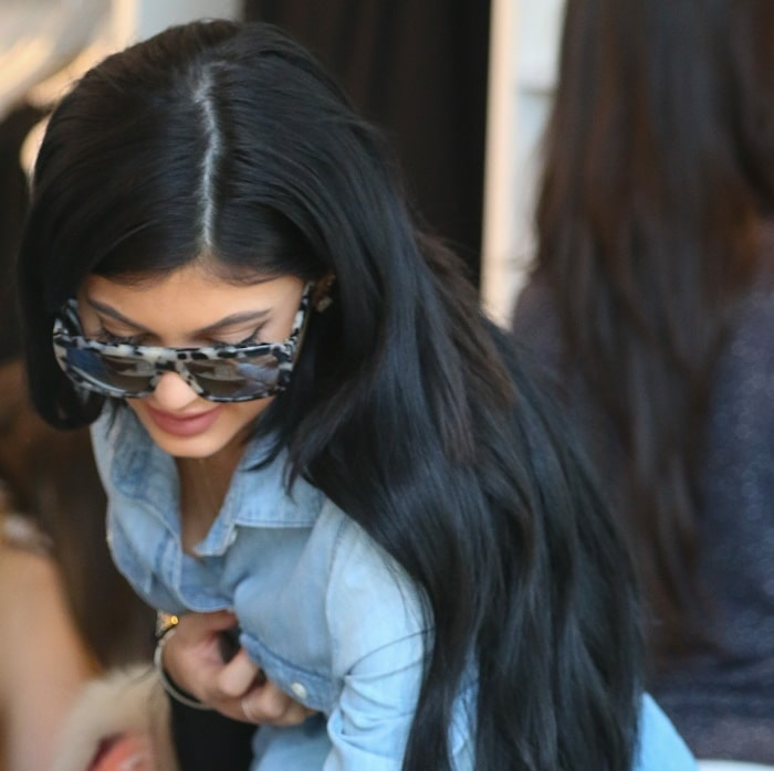 Kylie Jenner's oversized square sunglasses from Stella McCartney