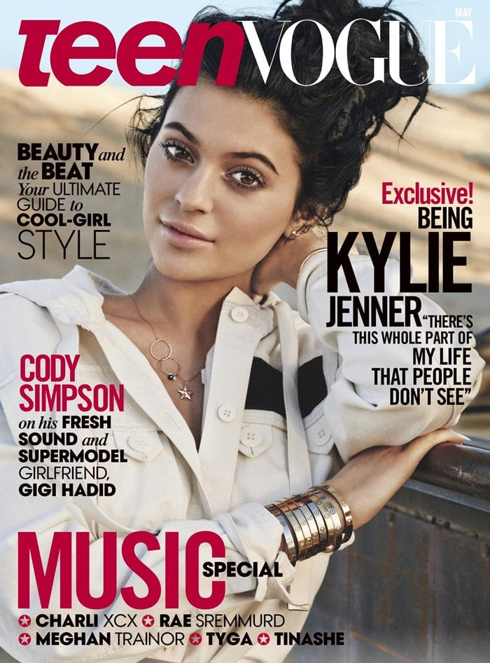 Kylie Jenner does dreadlocks on the cover of Teen Vogue