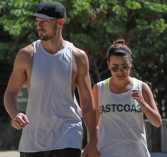 Lea Michele and boyfriend Matthew Paetz go for a hike