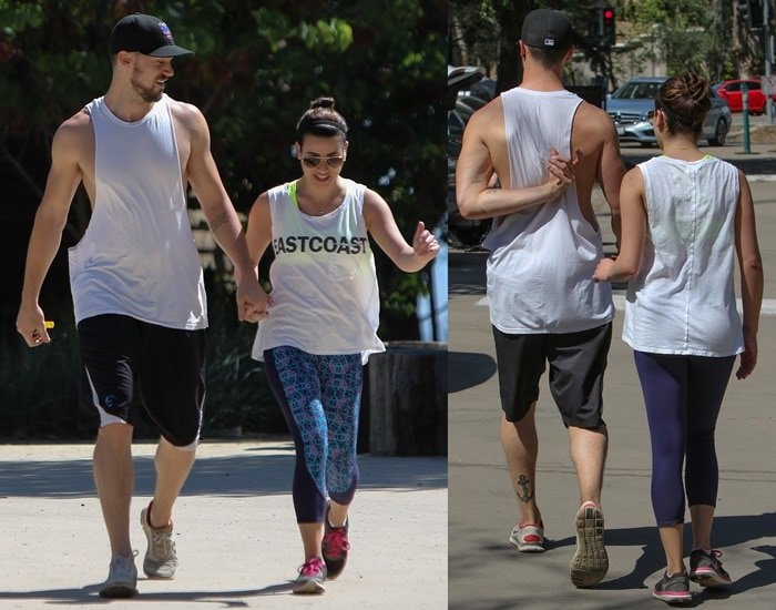 Lea Michele rocked Nike's Flex 2014 Run running shoes