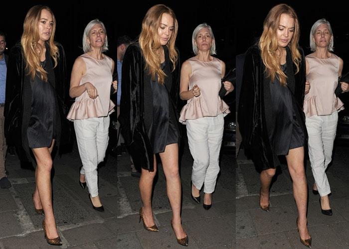 Lindsay Lohan with an older female companion