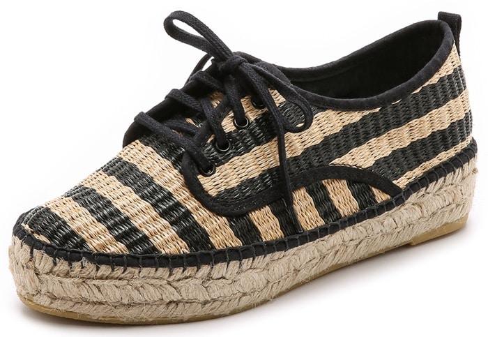 Loeffler Randall Black Alfie Espadrille Sneaker