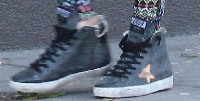 Megan Fox's leopard hi-top sneakers from Golden Goose