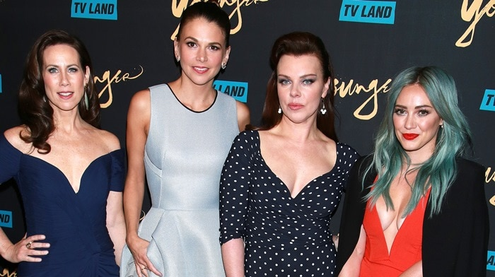 Miriam Shor, Sutton Foster, Debi Mazar, Hilary Duff at the premiere of their new TV Land series Younger