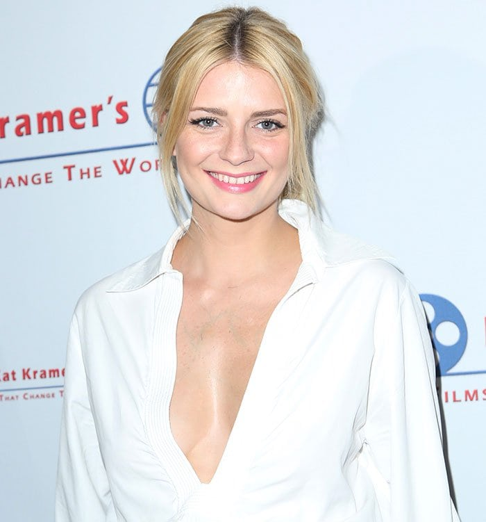 Mischa Barton's loosely pulled-back hairstyle
