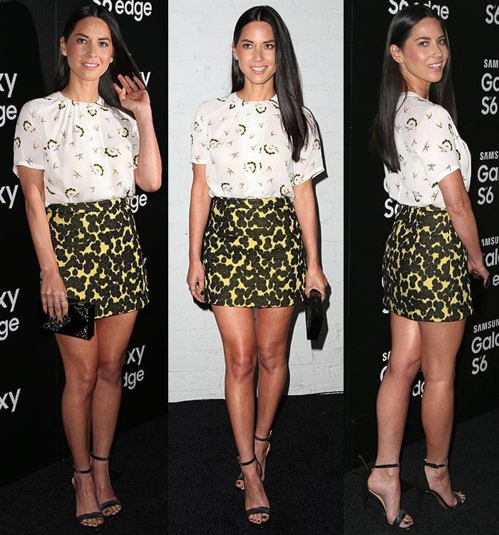 Olivia-Munn-ALC-top-skirt-Tory-Burch-sandals