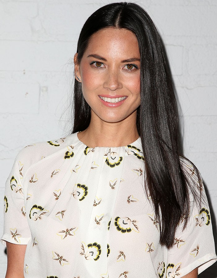 Olivia Munn at the launch of Samsung Galaxy S6 and Galaxy S6 Edge at Quixote Studios in Los Angeles, California, on April 2, 2015
