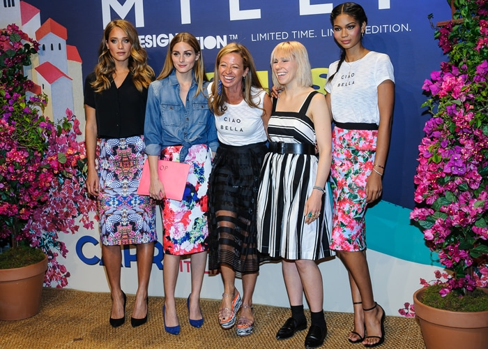 Hannah Davis, Olivia Palermo, Michele Smith, Chanel Iman, and Zosia Mamet