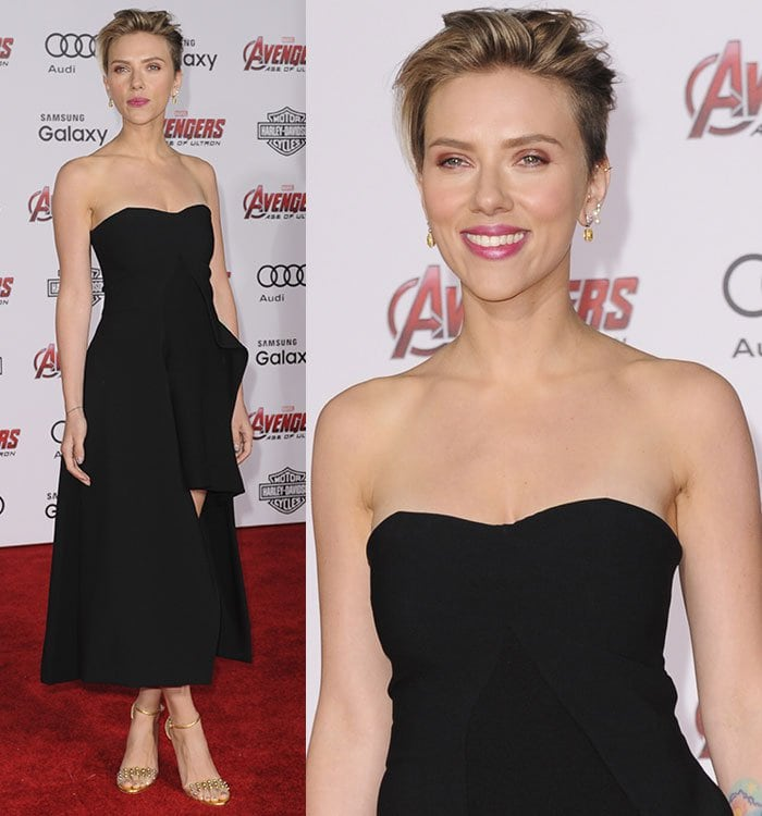Scarlett Johansson at the Los Angeles premiere of Avengers: Age of Ultron at the Dolby Theatre in Hollywood on April 13, 2015