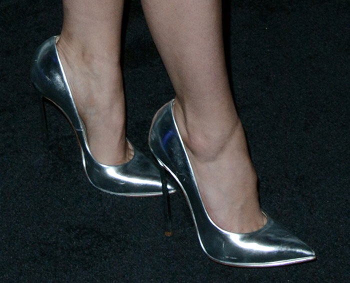 Sophia Bush's hot feet in Casadei pumps