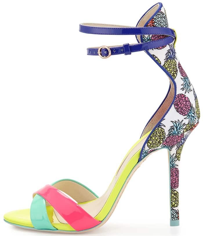 Sophia Webster Nicole Pineapple Patent Sandals