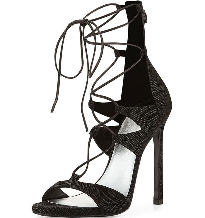 Stuart Weitzman Leg-Wrap Lace-Up Sandals