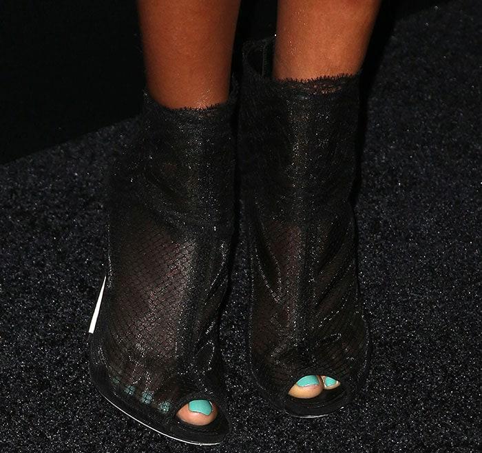 Taraji P. Henson's sexy toes in black booties