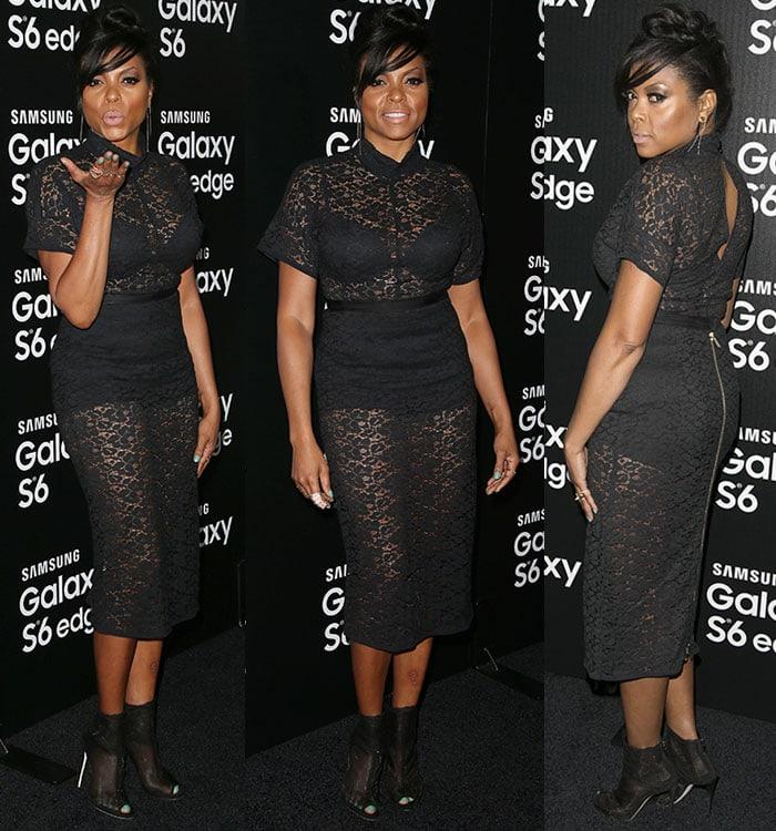 Taraji P. Henson styled her sexy dress with Dolce & Gabbanabooties