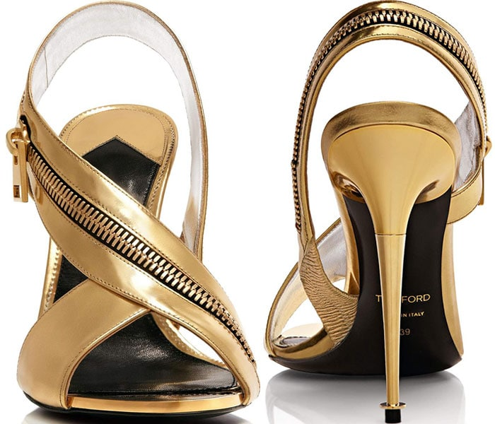Tom Ford Leather Zip Sandals