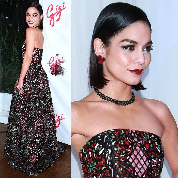 "Vanessa Hudgens attends an after-party — held in celebration of the opening night of her Broadway show, ""Gigi"" — at Tavern On The Green"