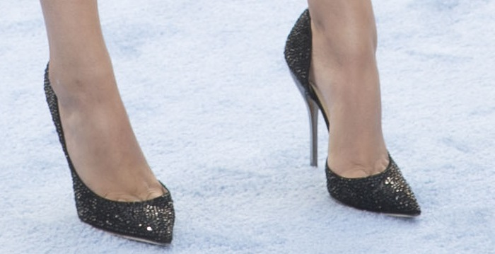 Victoria Justice's sexy feet in Jimmy Choo shoes